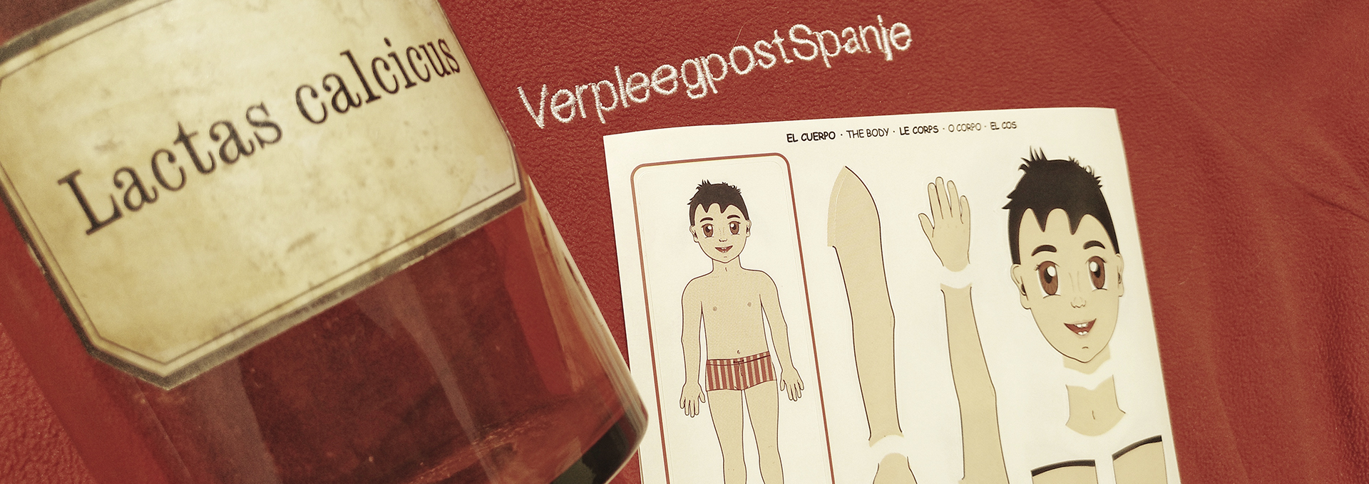 Lichaam met fles bij VerpleegpostSpanje HuisartsenPraktijk