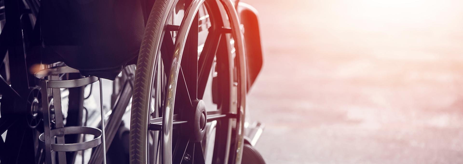 rolstoel wiel Hulpmiddelen huren aan de Costa Brava
